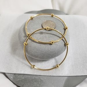 Stainless Steel Gold Bead Bracelets (2)